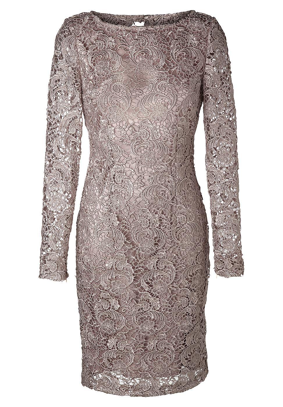 Apart kanten jurk paars