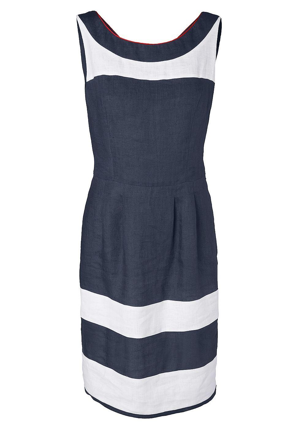 NU 15% KORTING: Apart Linnen jurk blauw