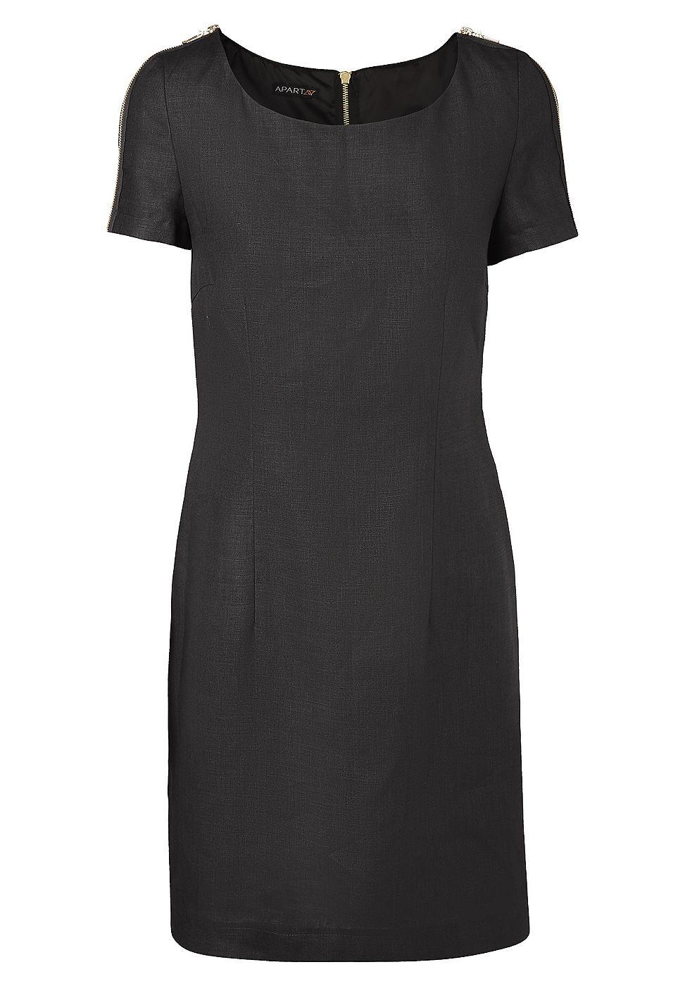 Apart Linnen jurk zwart