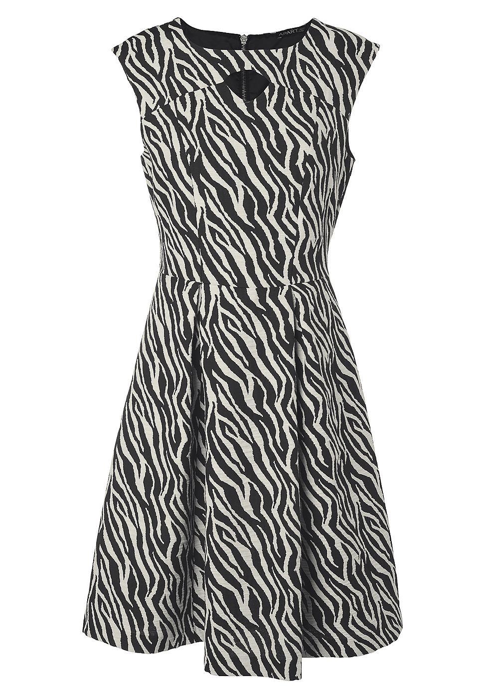 Apart Jacquard jurk zwart