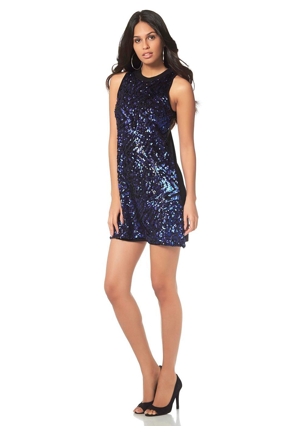 Laura Scott jurk in A-lijn blauw