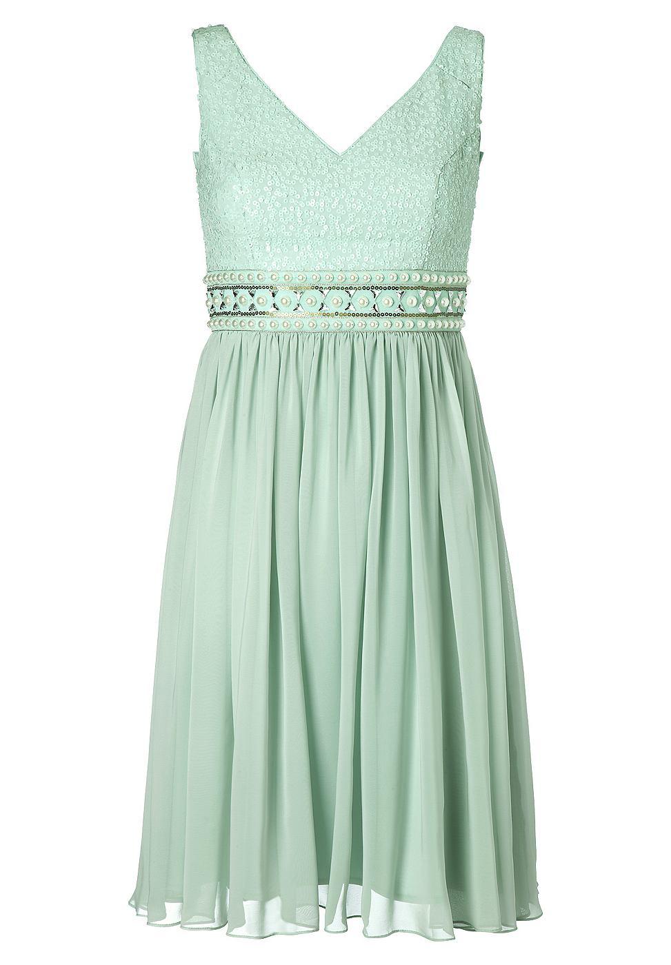 Apart chiffon jurk groen