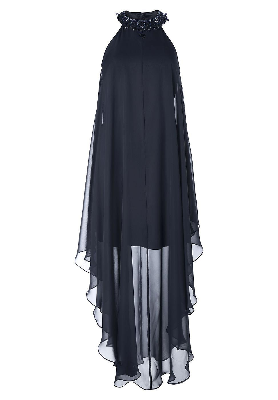 Apart chiffon jurk blauw