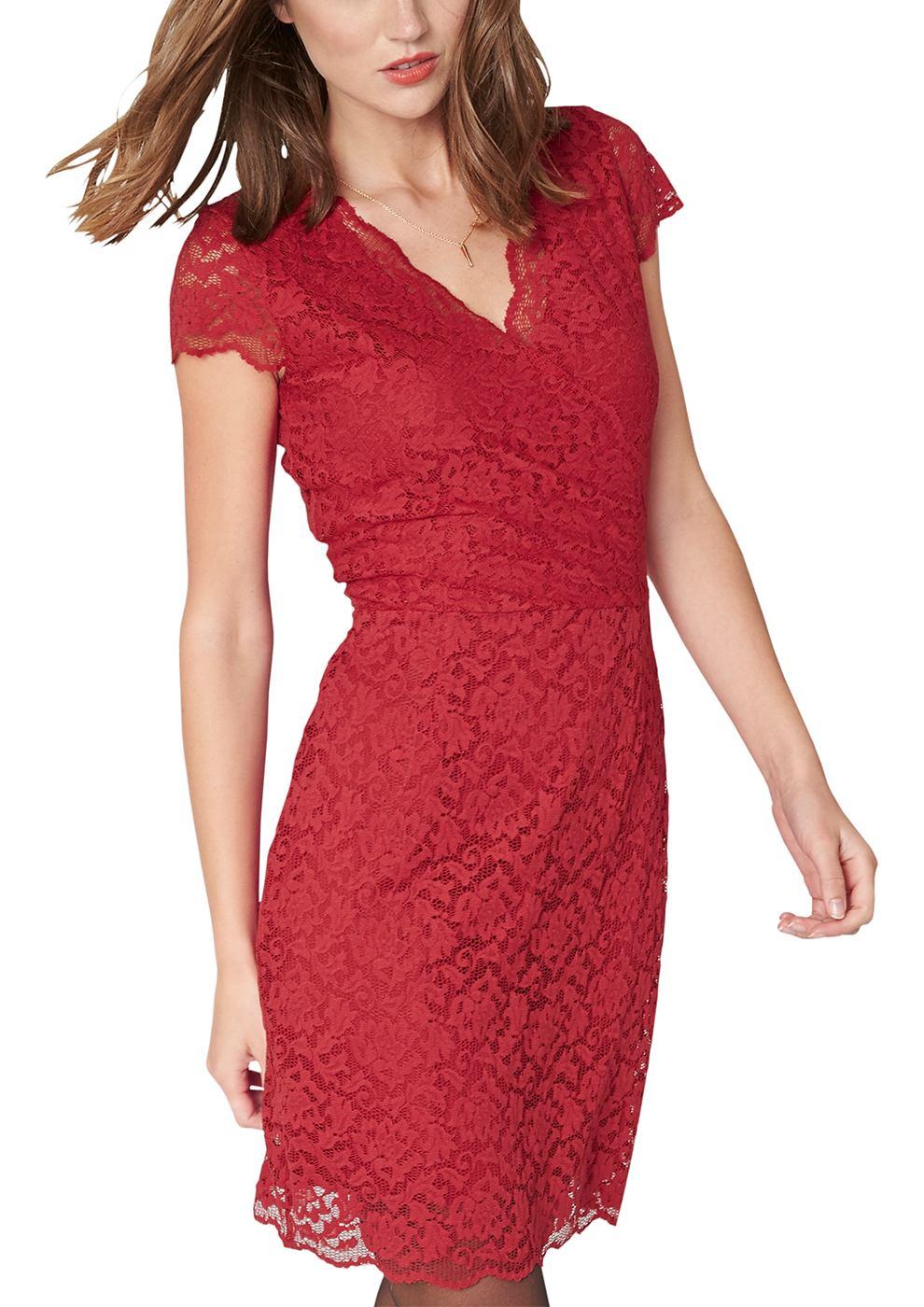 s.Oliver Premium jurk rood