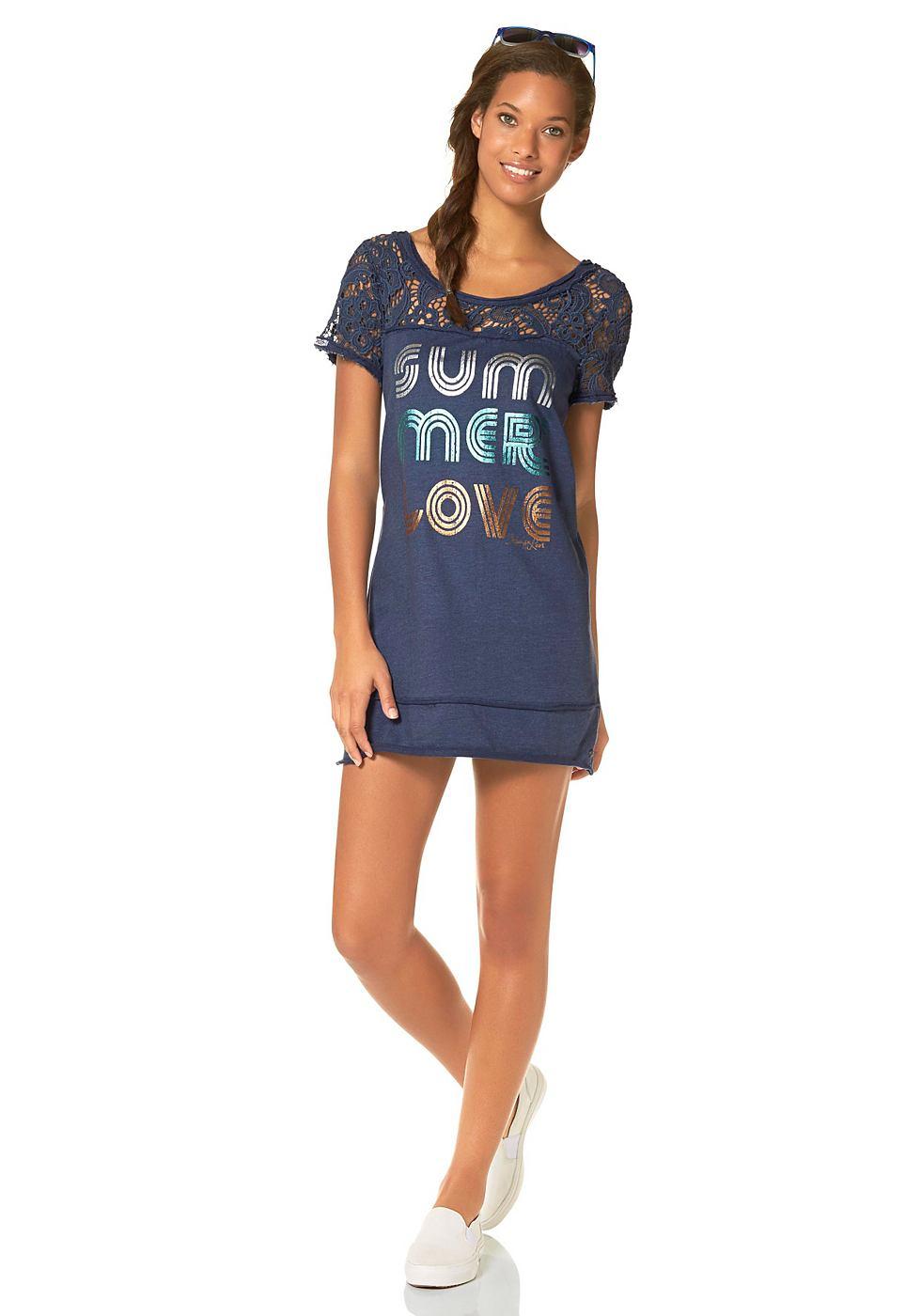 Kangaroos Sweatshirt in aansluitend model blauw