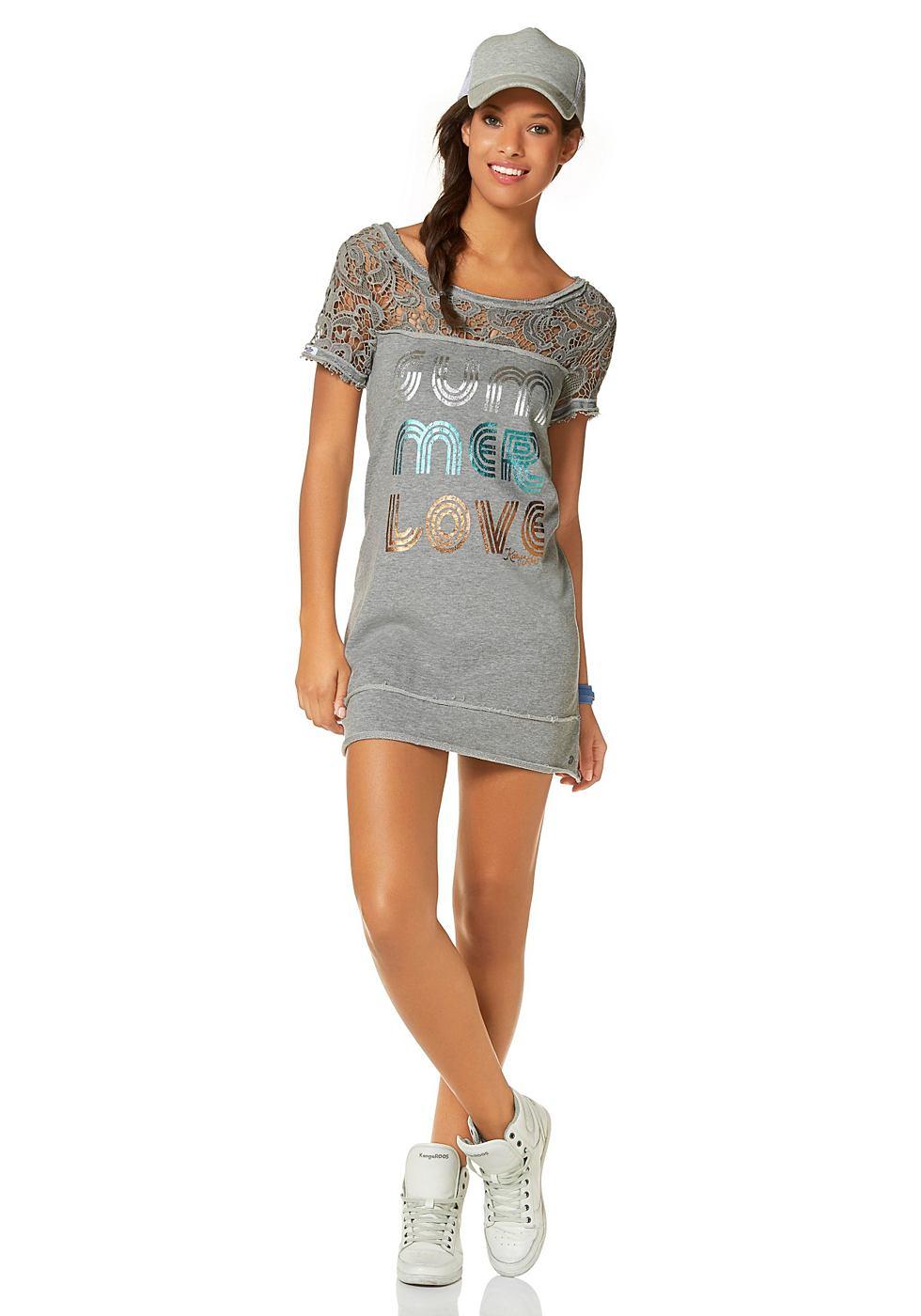 Kangaroos Sweatshirt in aansluitend model grijs