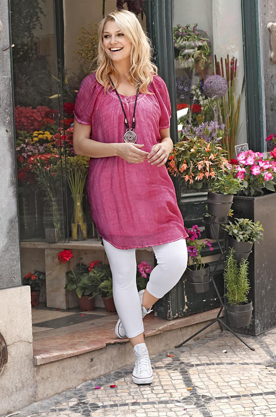 sheego Casual jurk roze