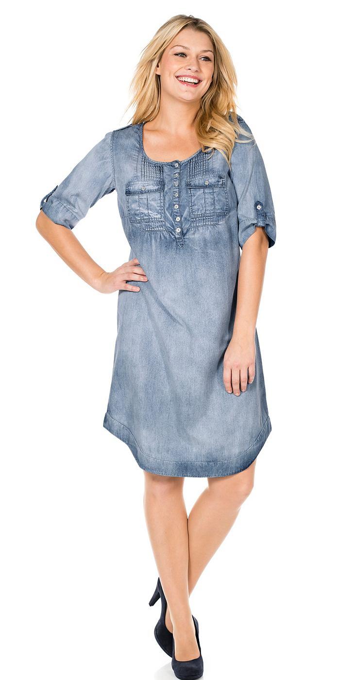 Sheego Casual korte jurk blauw