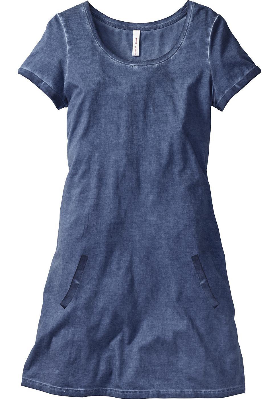SHEEGO TREND eenvoudige shirtjurk blauw