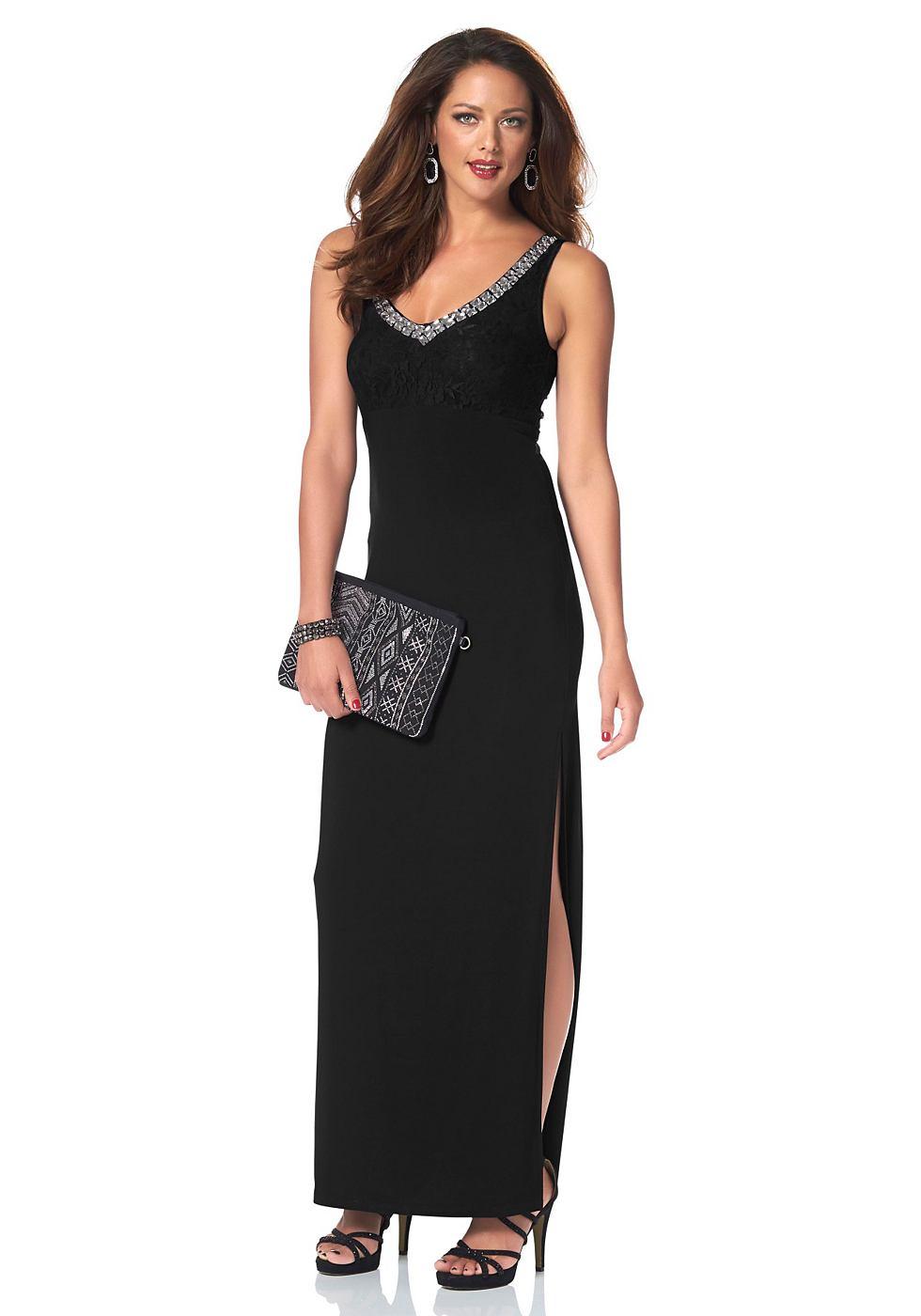Melrose Maxi-jurk met siersteentjes zwart