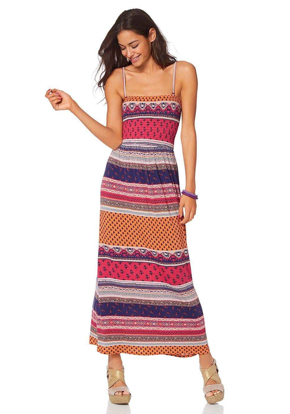 AJC Maxi-jurk in bandeaumodel oranje