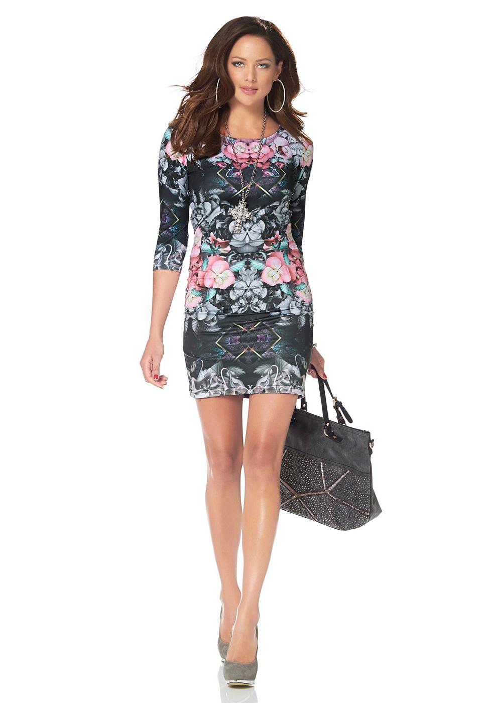 Melrose jersey-jurk met caleidoscoopprint grijs
