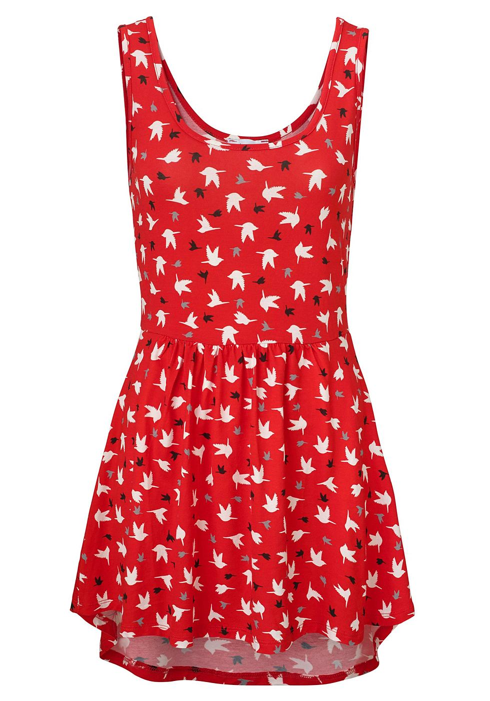 Aniston jersey-jurk met ronde hals rood