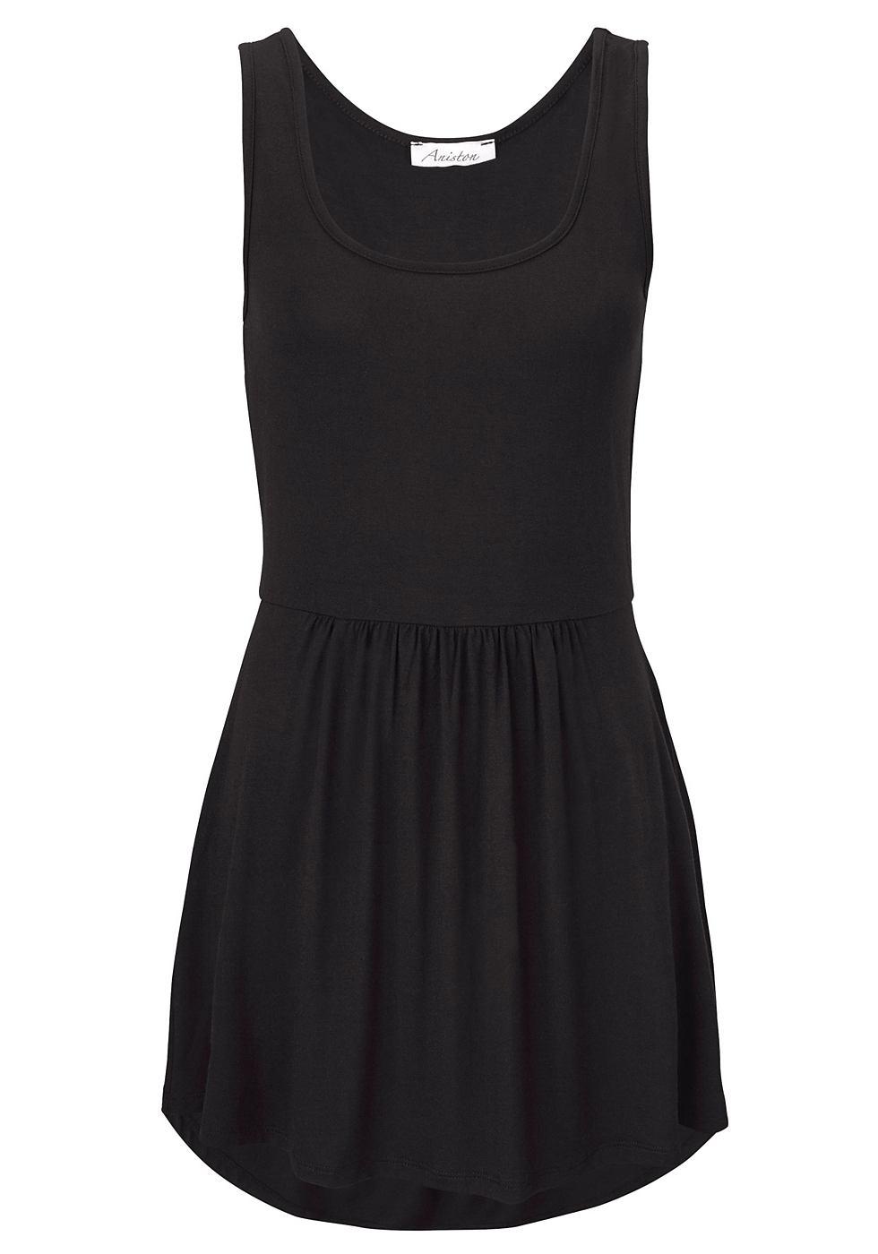 Aniston jersey-jurk met ronde hals zwart