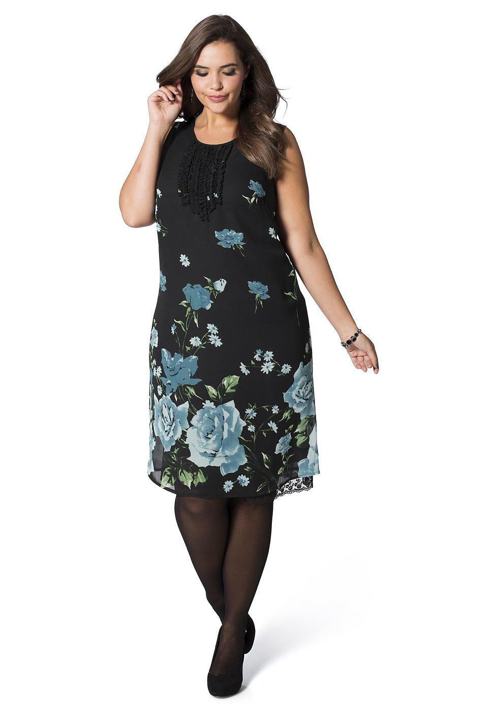sheego Style jurk blauw
