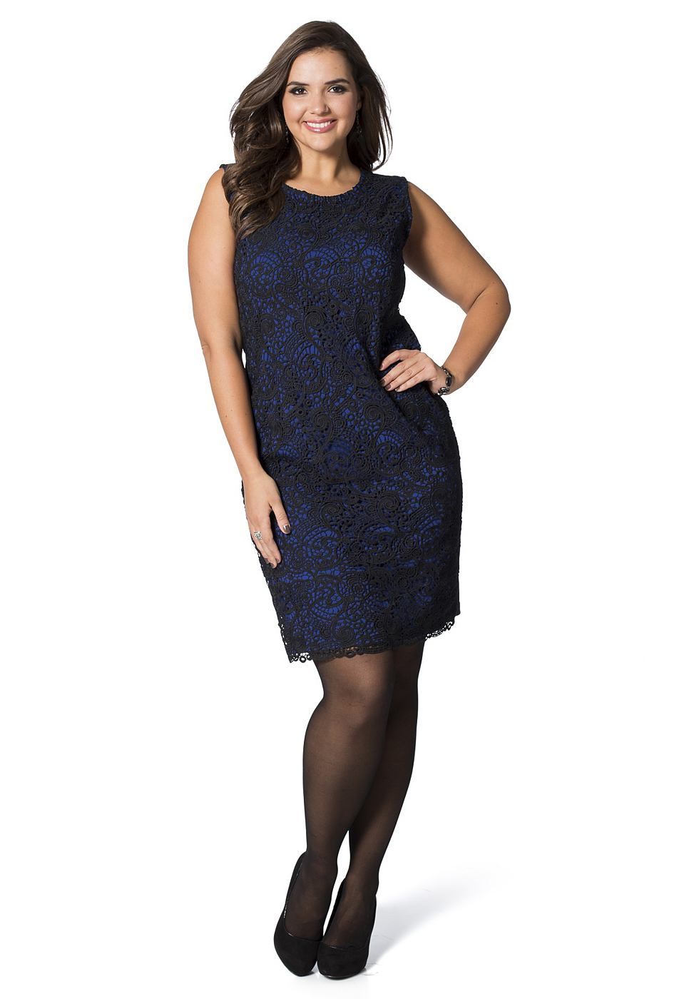 sheego Class jurk blauw