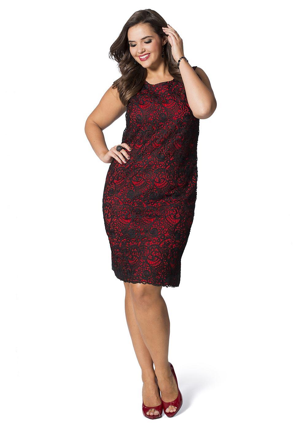 sheego Class jurk rood