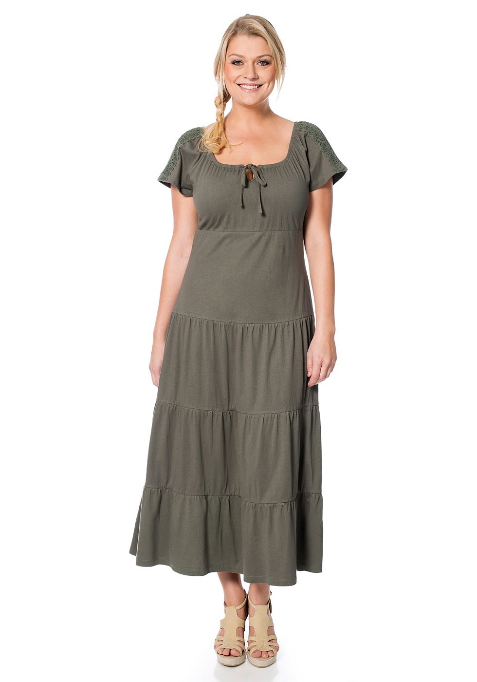 Sheego Casual jurk groen