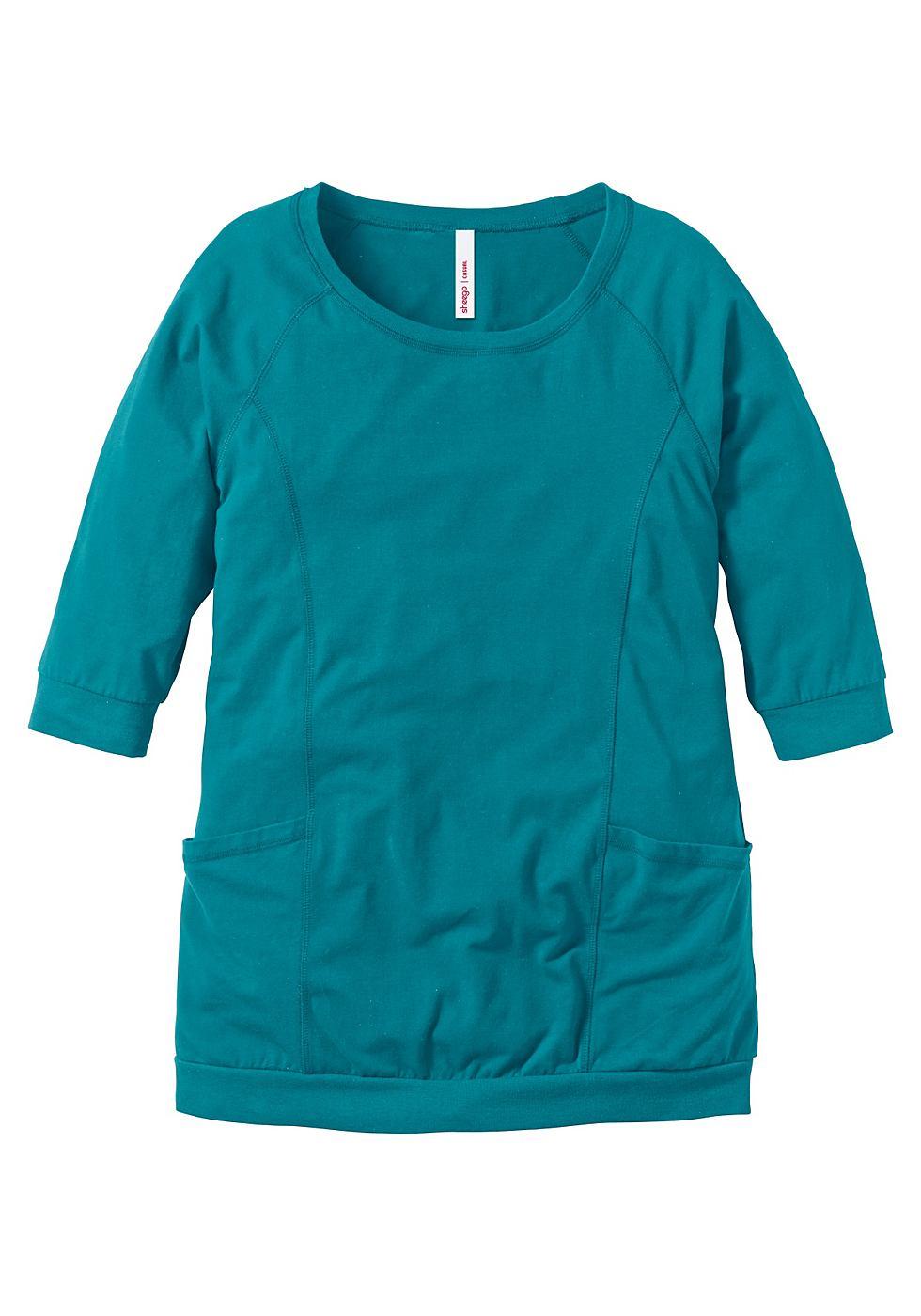 Sheego Casual jerseyjurk groen