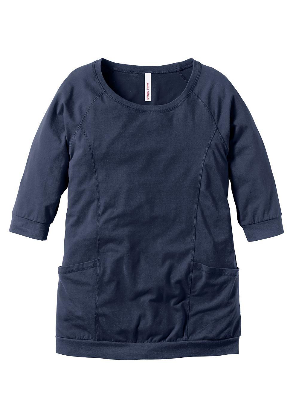 Sheego Casual jerseyjurk blauw
