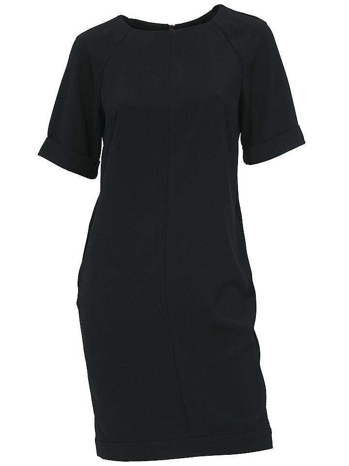jurk met korte mouwen zwart