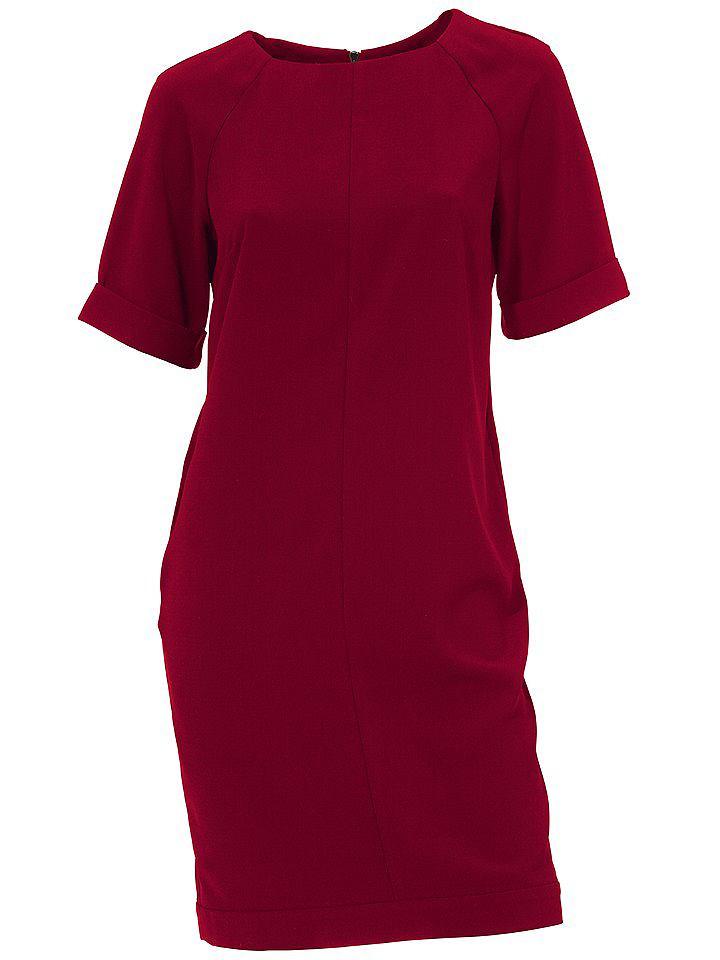 jurk met korte mouwen rood
