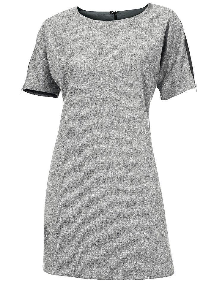 jurk met korte mouwen grijs
