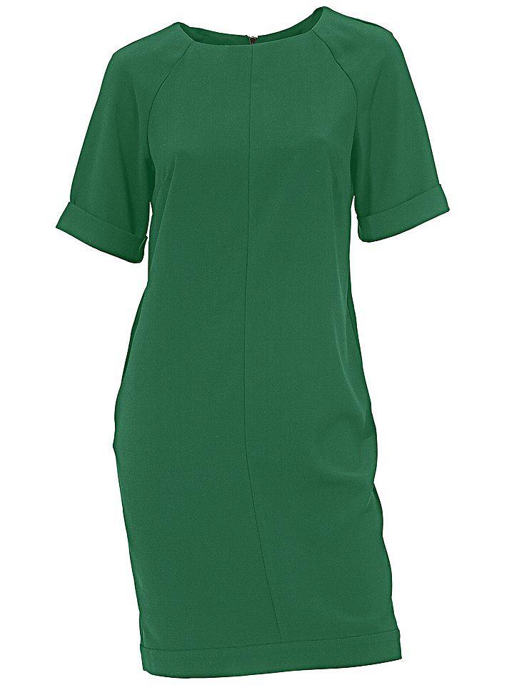 jurk met korte mouwen groen