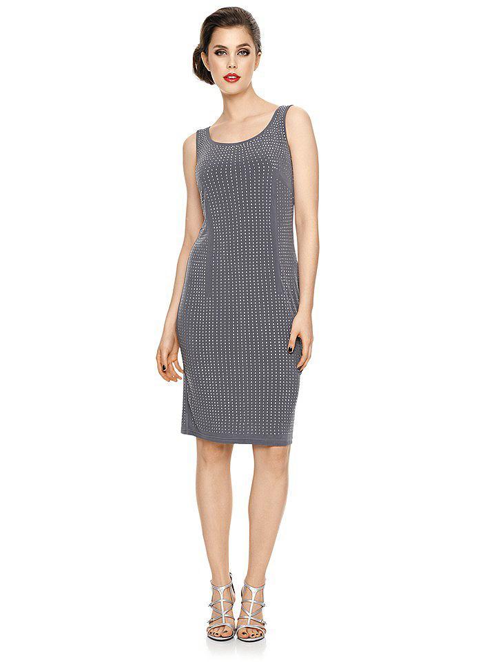 Ashley Brooke Event jurk met pailletten grijs