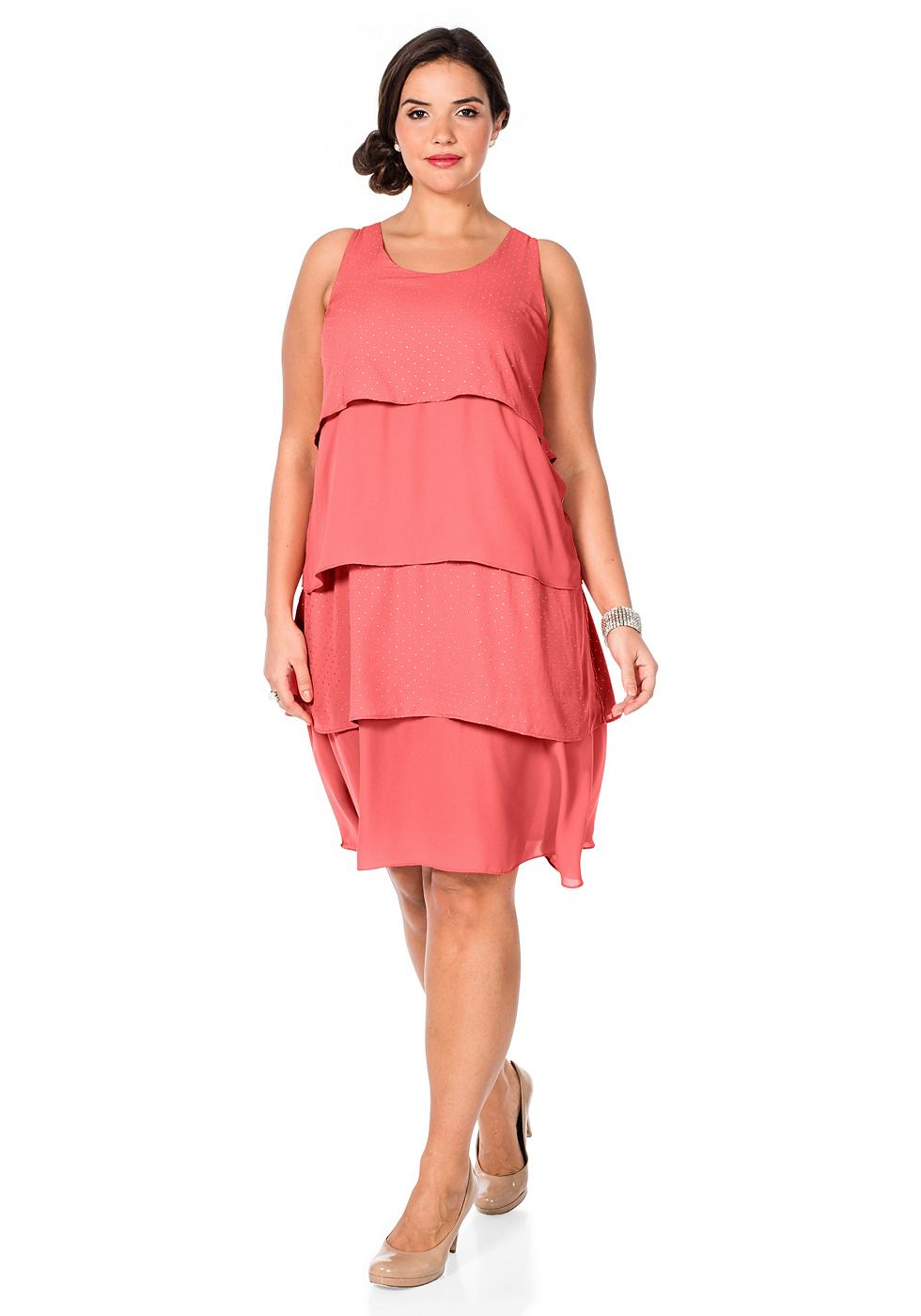 Sheego Style jurk roze