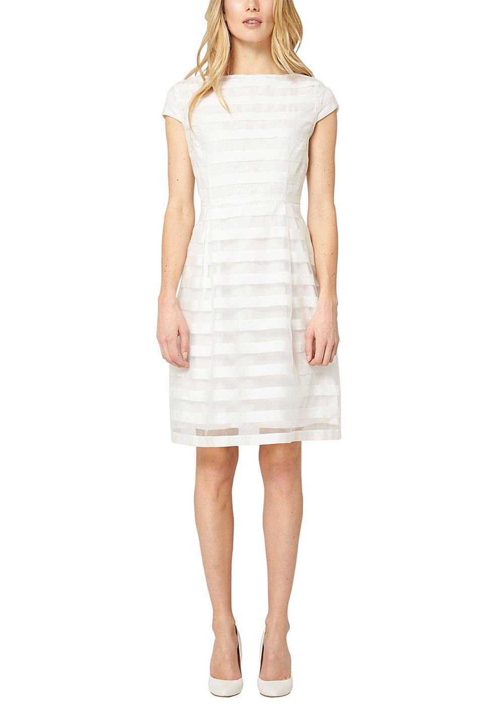 s.Oliver Premium Feestelijke jurk van organza wit