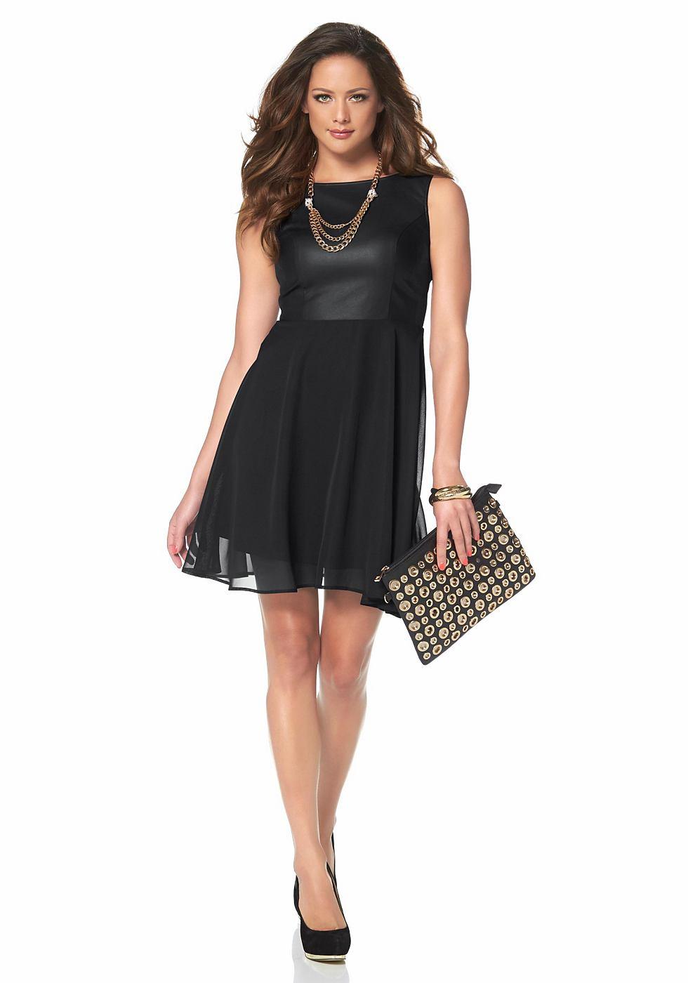 Melrose Mini-jurk met ronde hals zwart