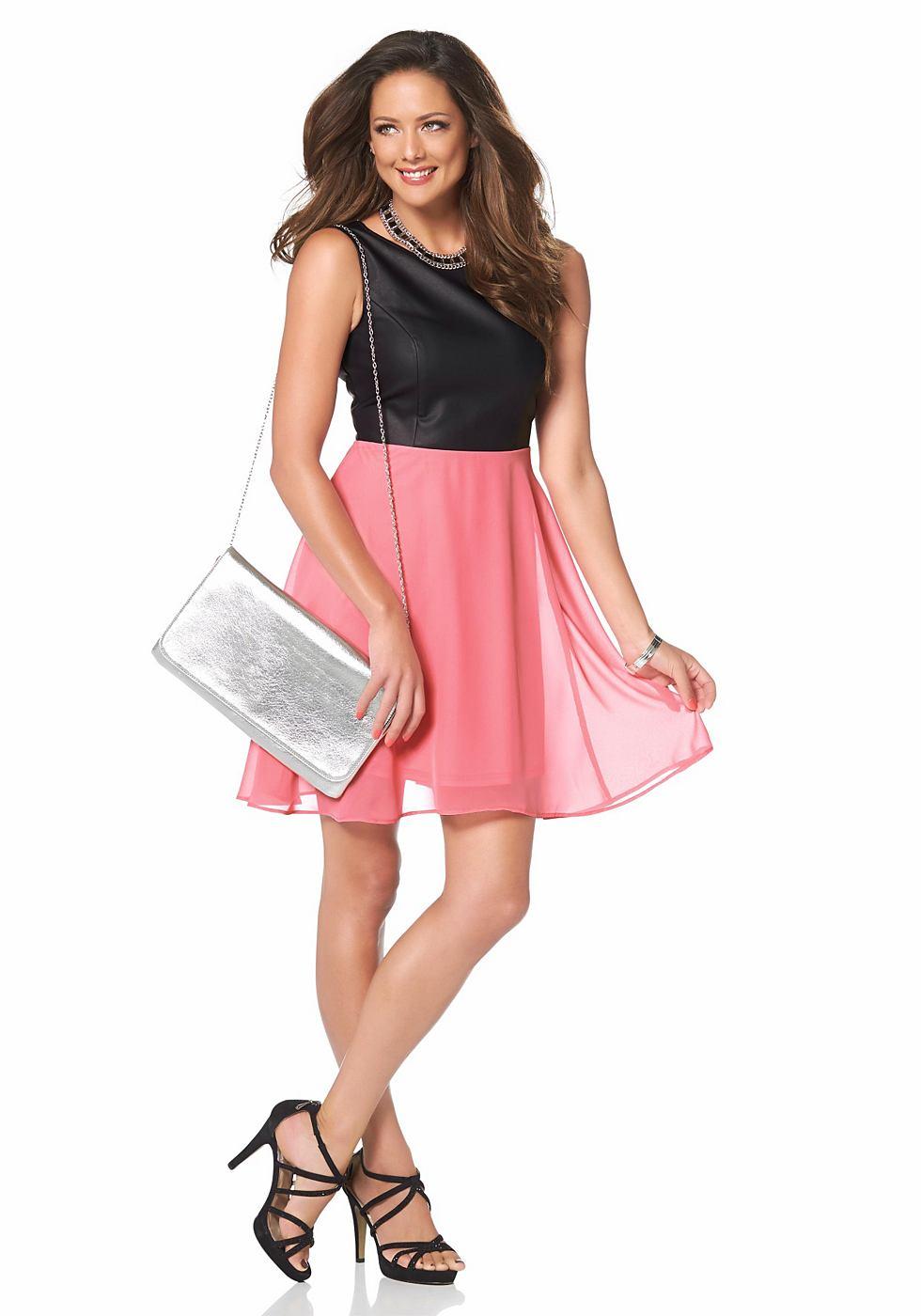 Melrose Mini-jurk met ronde hals roze