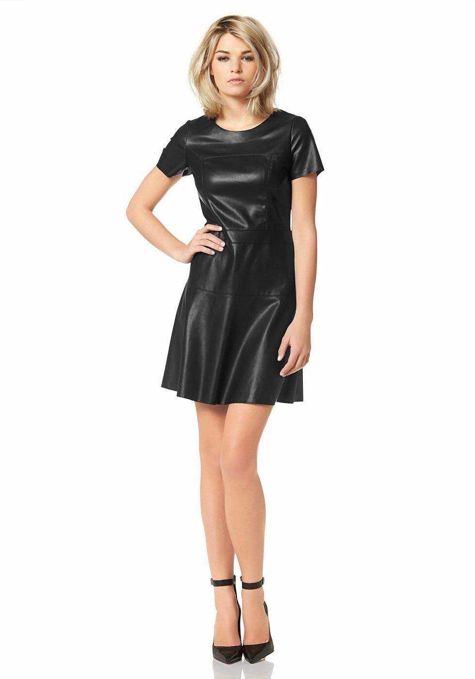 Laura Scott jurk van imitatieleer zwart