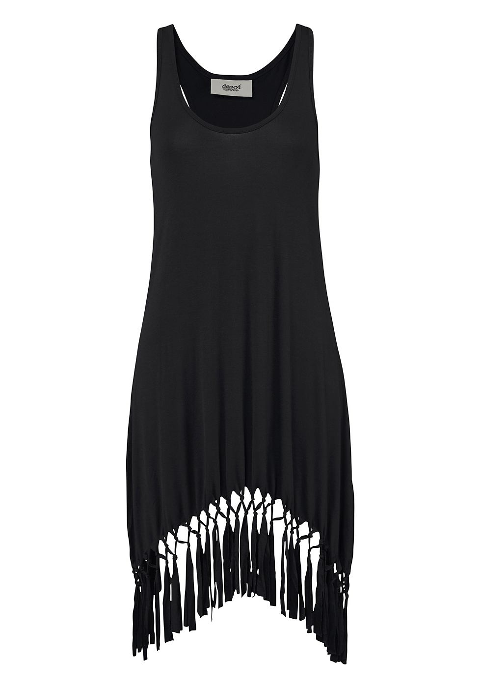 Beachtime Shirt in lang model zwart
