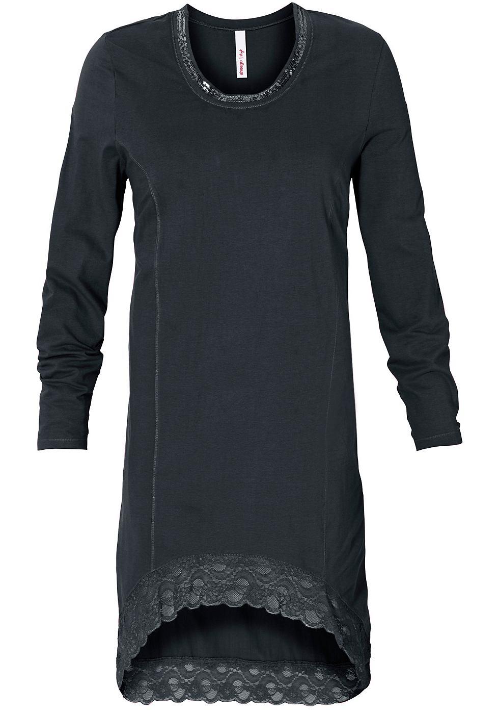 Sheego Style jerseyjurk grijs