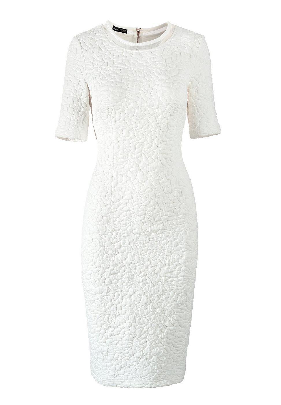 Apart jersey jurk wit