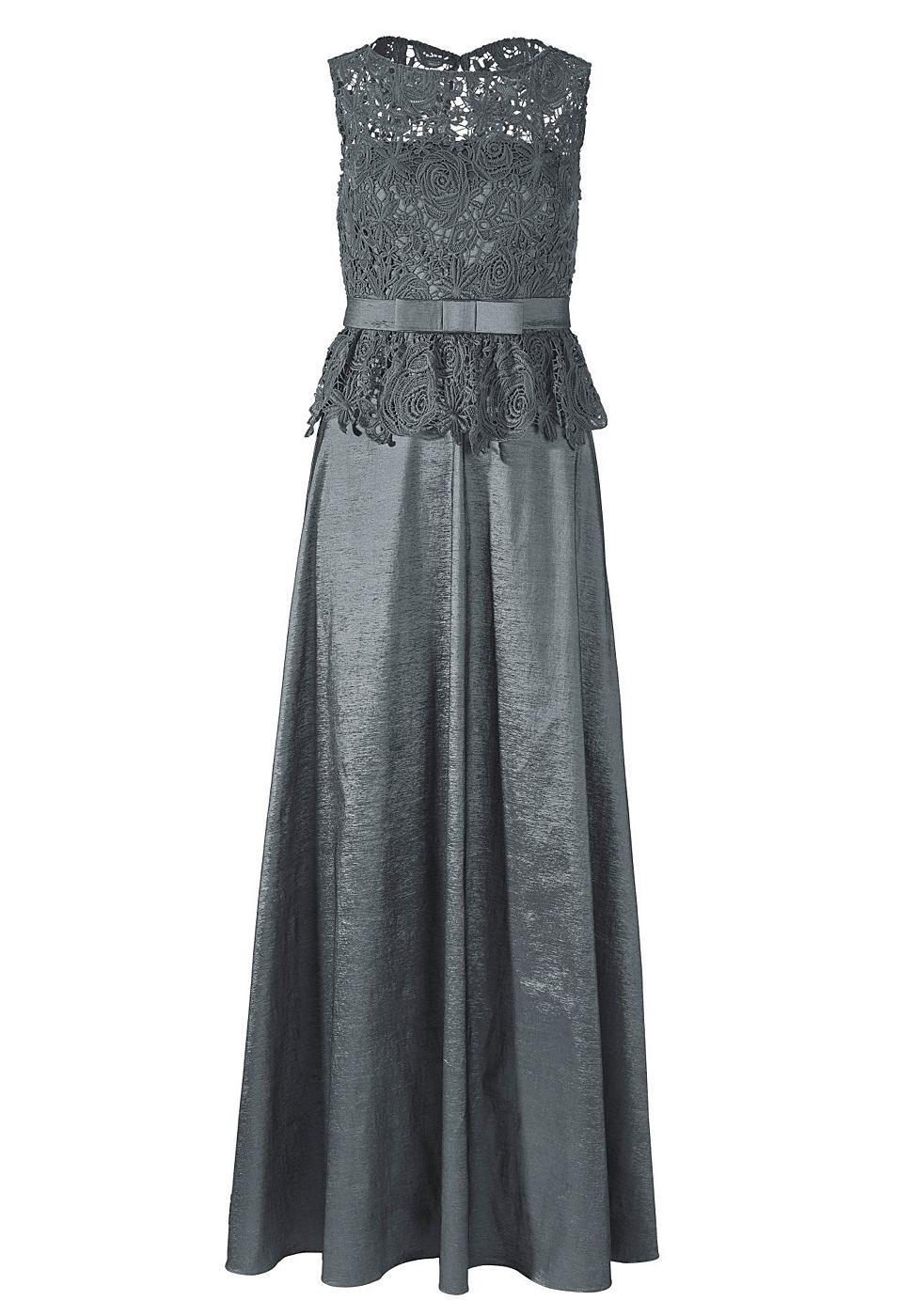 Apart taffen jurk grijs
