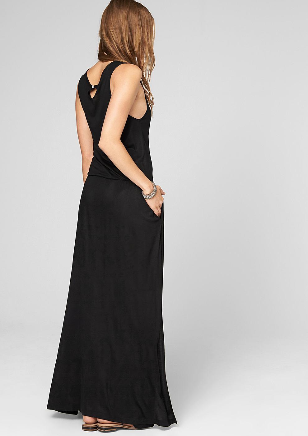 s.Oliver Maxi dress van jersey zwart