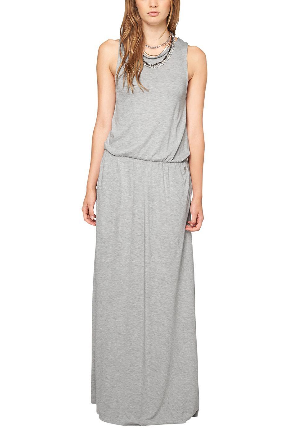 s.Oliver Maxi dress van jersey grijs