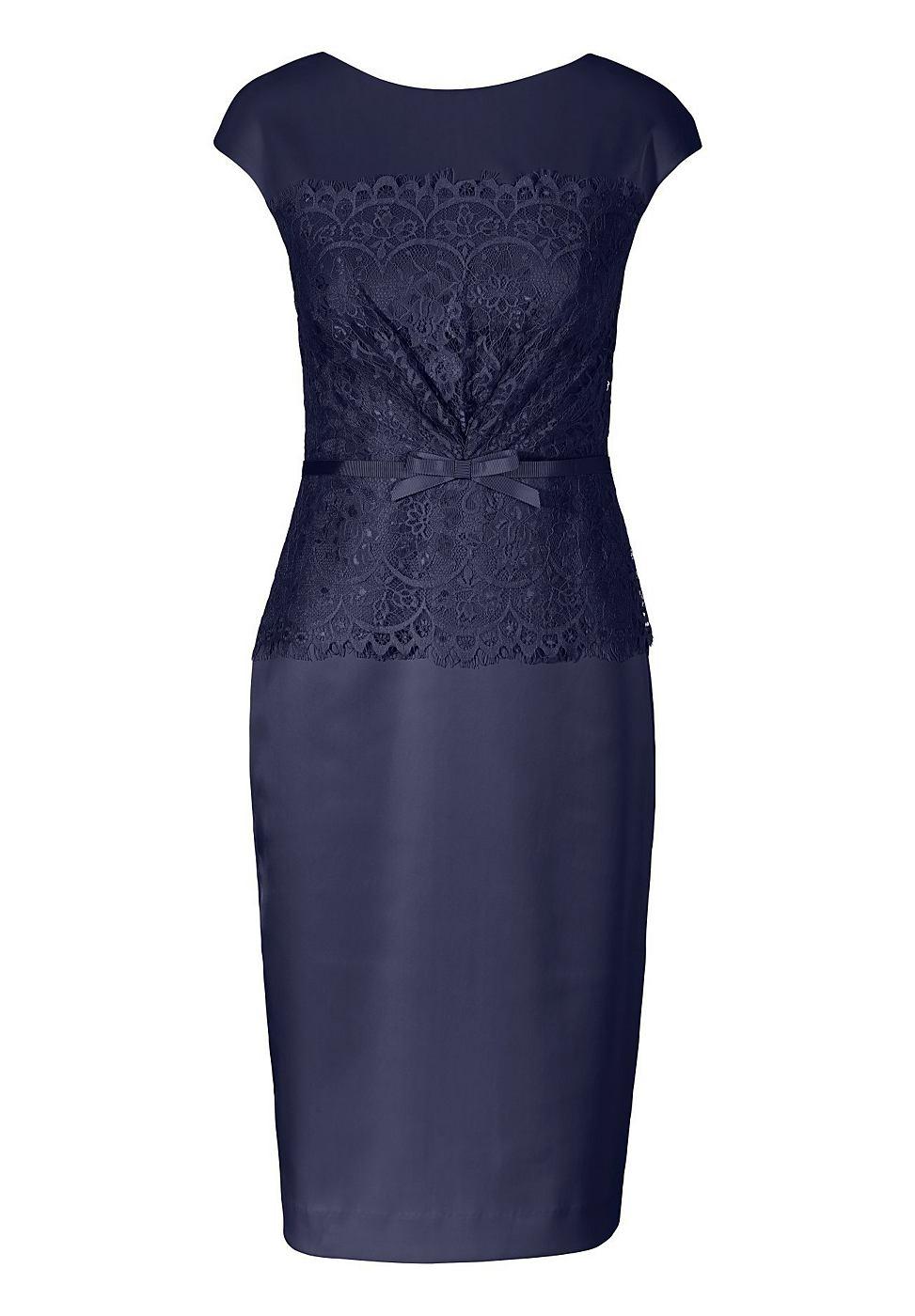 Apart satijnen jurk blauw