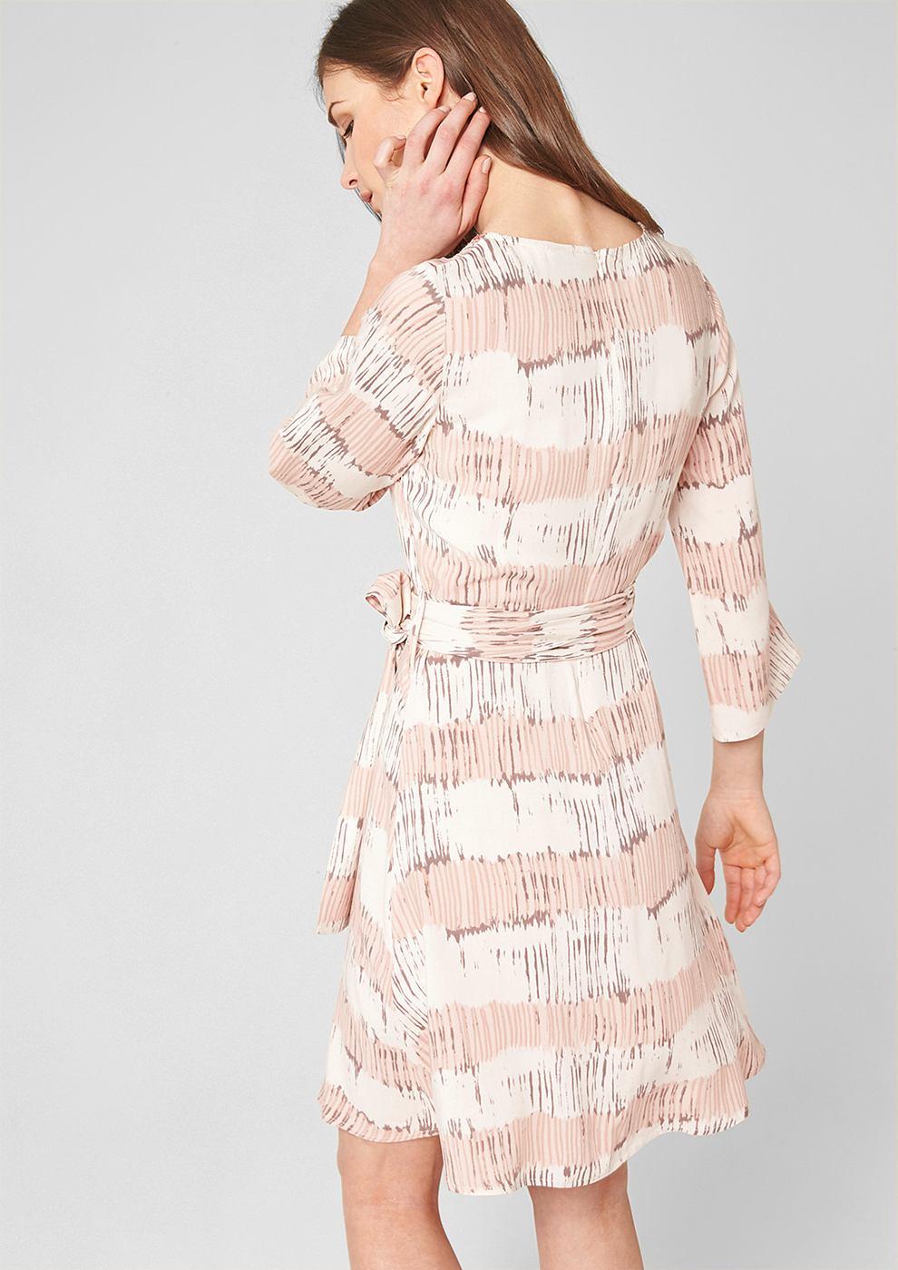 s.Oliver Premium Viscose jurk met pailletjes roze