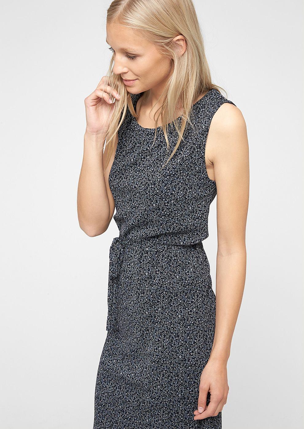 s.Oliver Mesh jurk blauw
