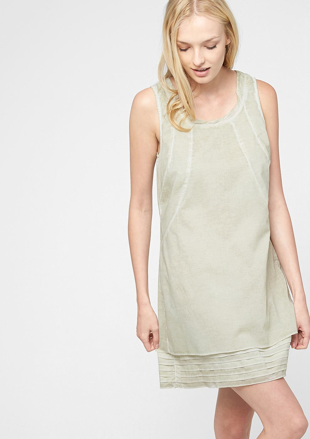 s.Oliver Casual pigment dyed jurk bruin