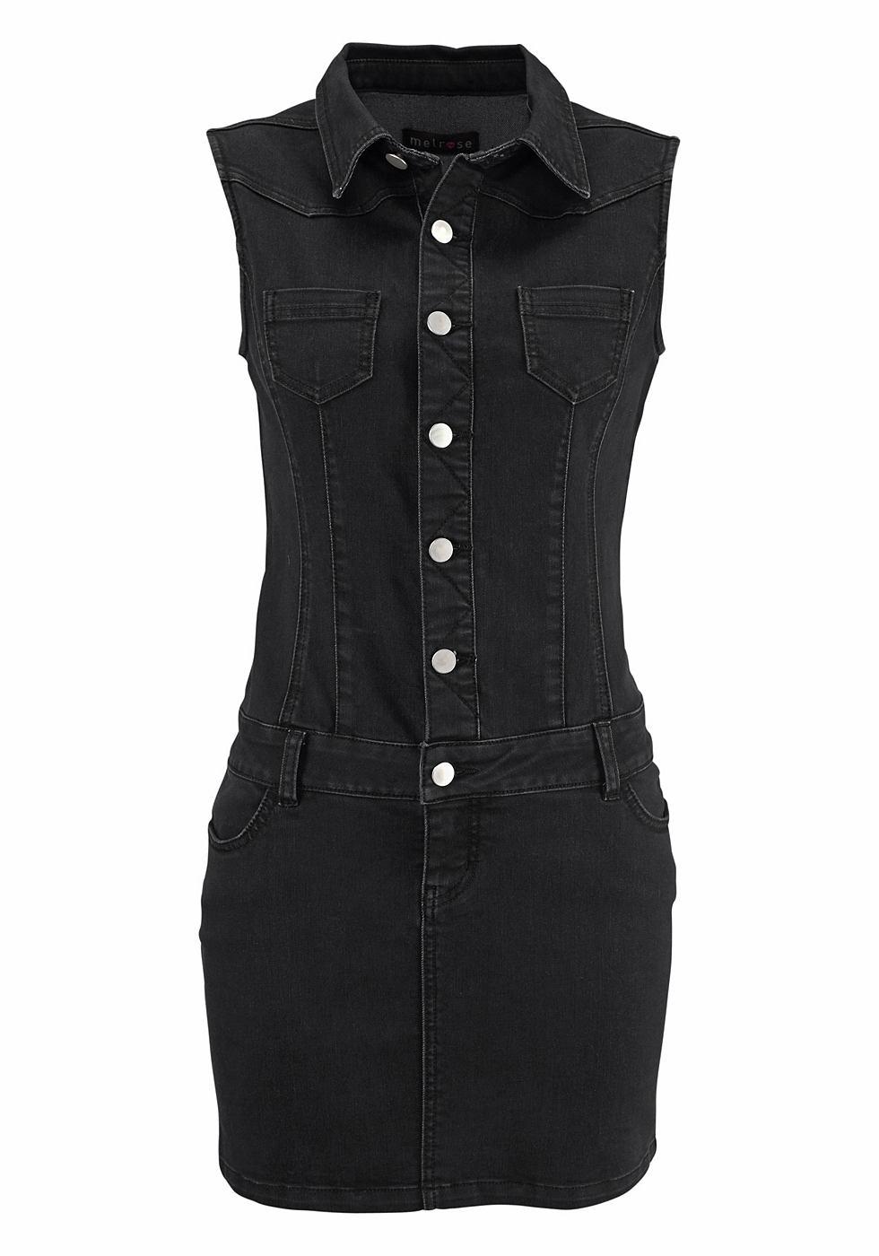 Melrose Jeans-jurk zonder mouwen zwart