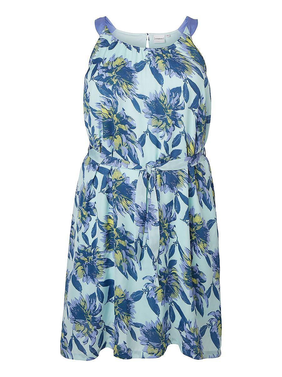 Junarose Met print jurk blauw