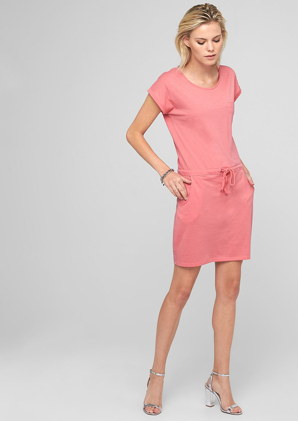 s.Oliver Casual jersey jurk roze