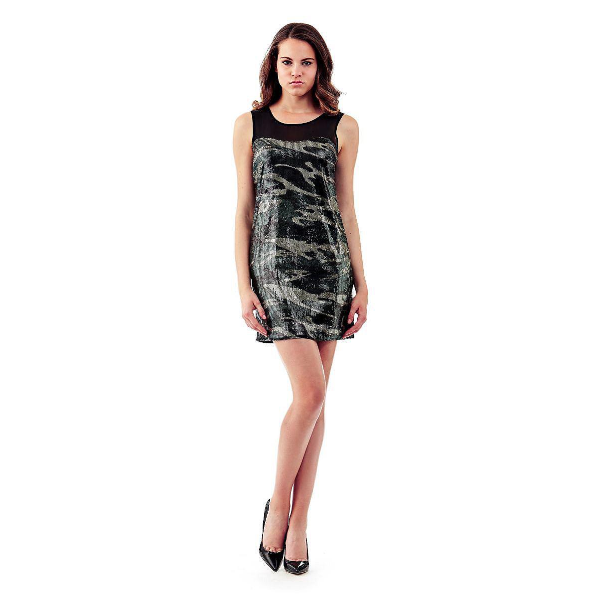 Guess jurk Camouflage paillettes multicolor