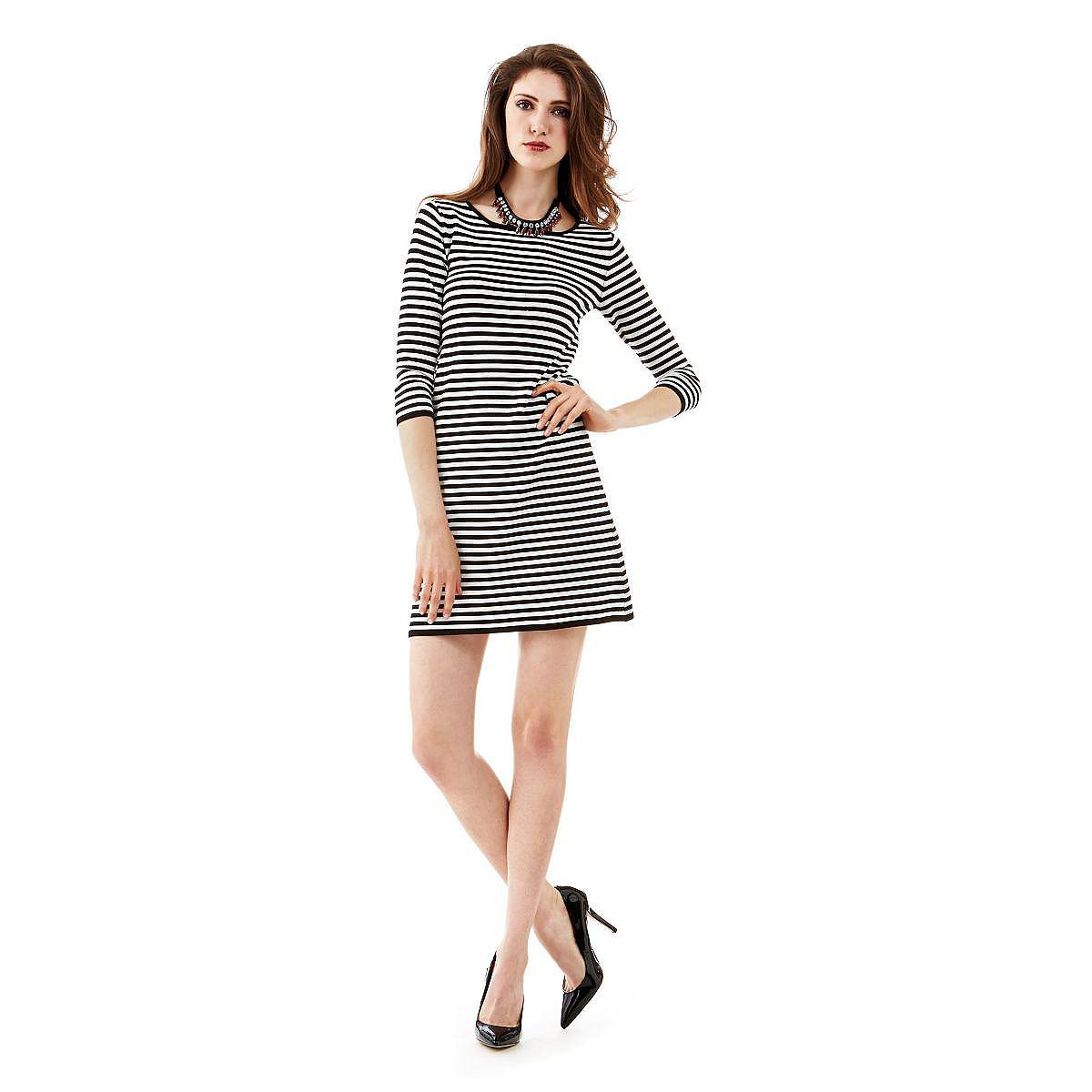 Guess jurk A-line printed met 3/4-mouwen multicolor