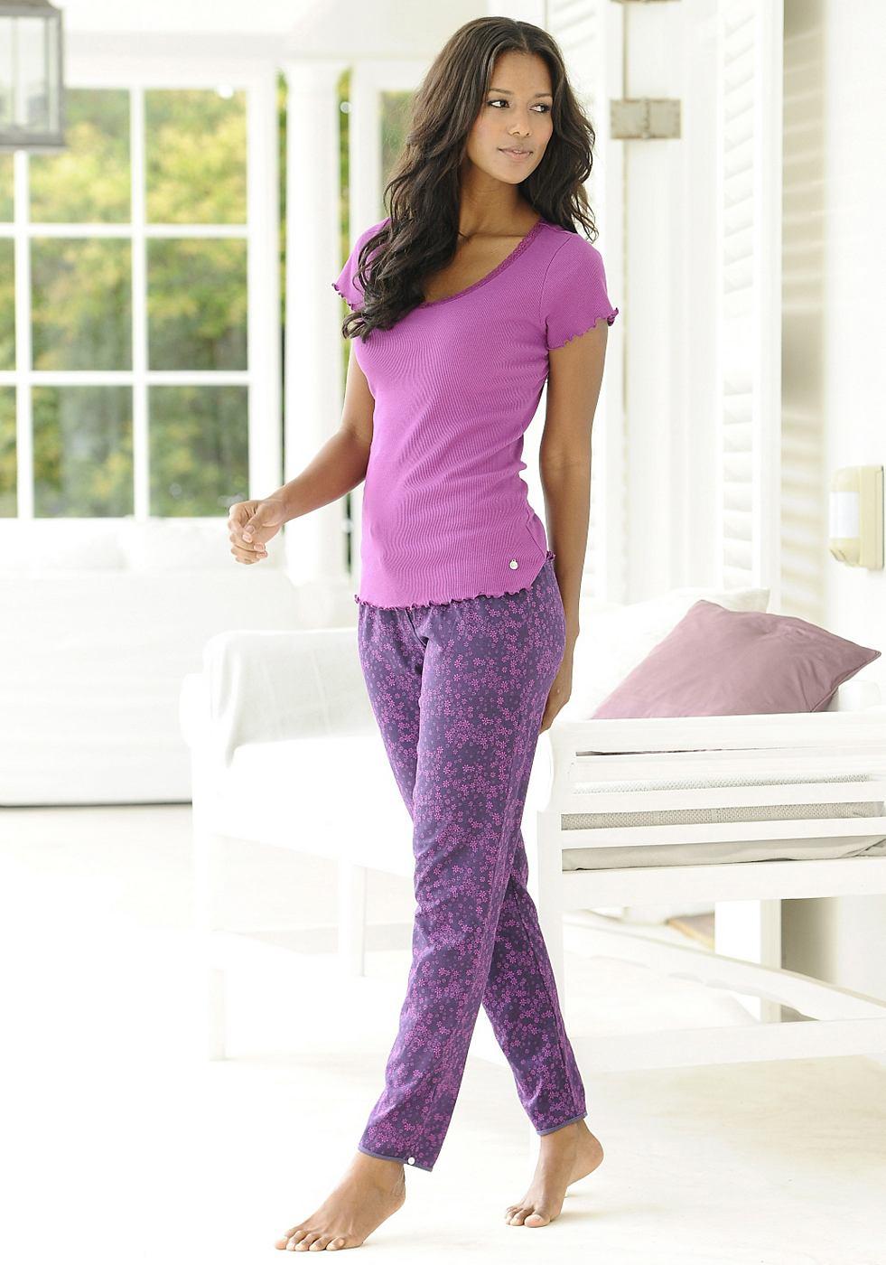 NU 15% KORTING: LASCANA Lange broek met elastische band